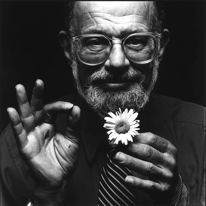 Allen Ginsberg | Image via bluerailroad