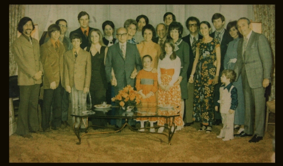 The whole family, with Poppa Clonick right in the middle.
