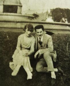 Poppa & Grandma Zollo, 1921 in Grant Park, Chicago. Ray & Ester.