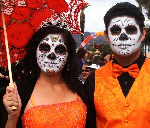3 couple in orange
